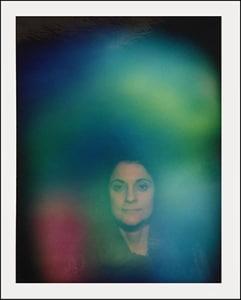 Die Aura-Fotografie einer Kundin ohne Swiss Harmony BodyCard.