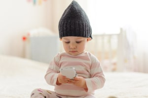 High frequency radiation in the nursery through baby monitors