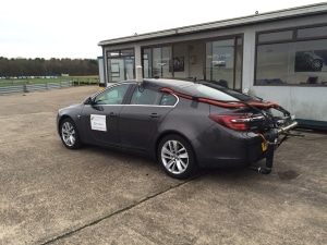 The car and setup used in the Emissions Analytics Test to have the CarTuner certified