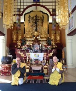 Friedens-Pagode Mönche